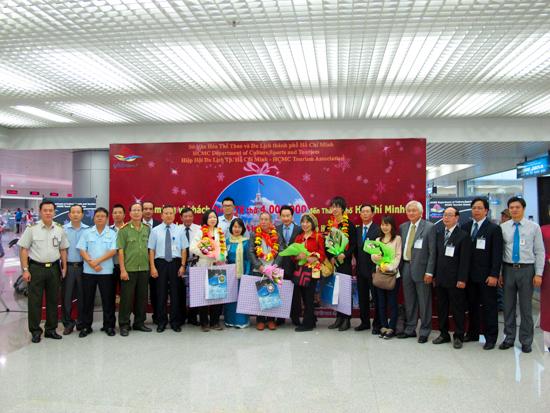 TP. Hồ Chí Minh đón vị khách du lịch quốc tế thứ 4 triệu